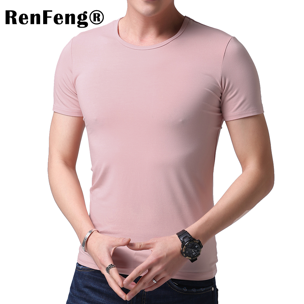 Fashion 2018 New Cool T-shirt Men Blank Tshirt Under shirt Tee Shirt Homme Short Sleeve Summer Tops Tees T shirt Male M-3XL (3)