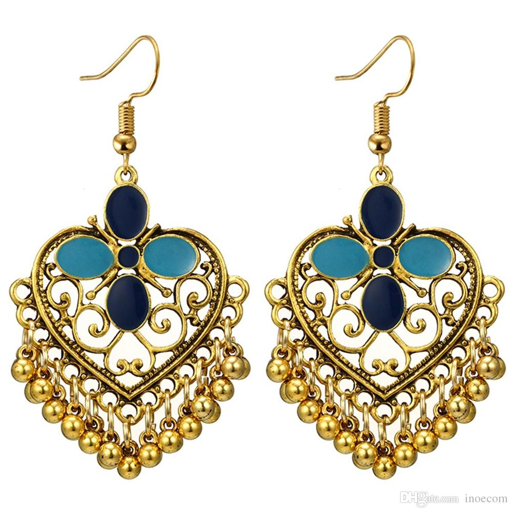 Ethnic Vintage Antique Jewelry Gold Silver Heart Shape Pierced Carved Filigree