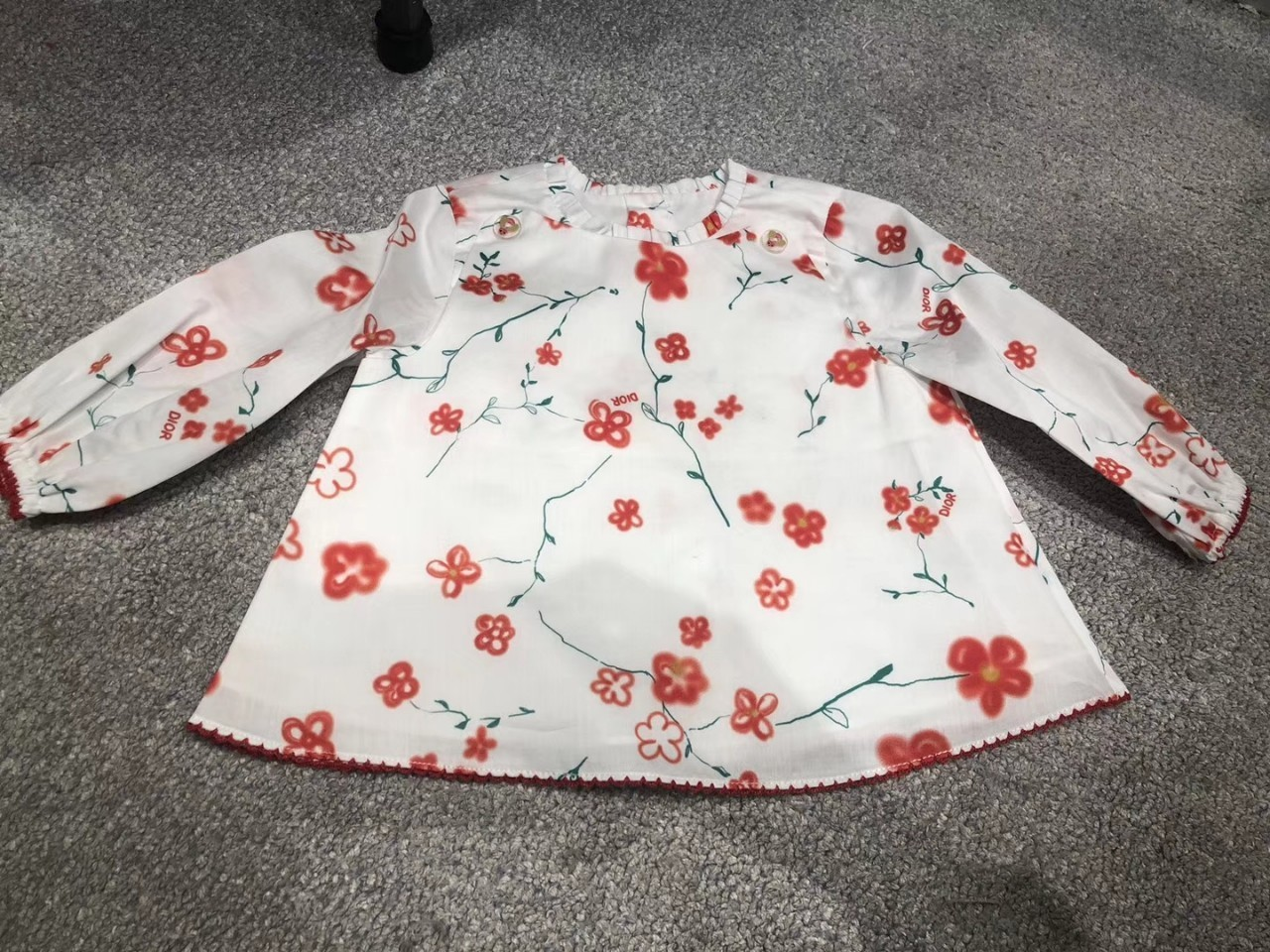 kids clothes Long Sleeves Shirt Girl Long Sleeves Whole Cotton Digital Printing Shirt High Set Shirt