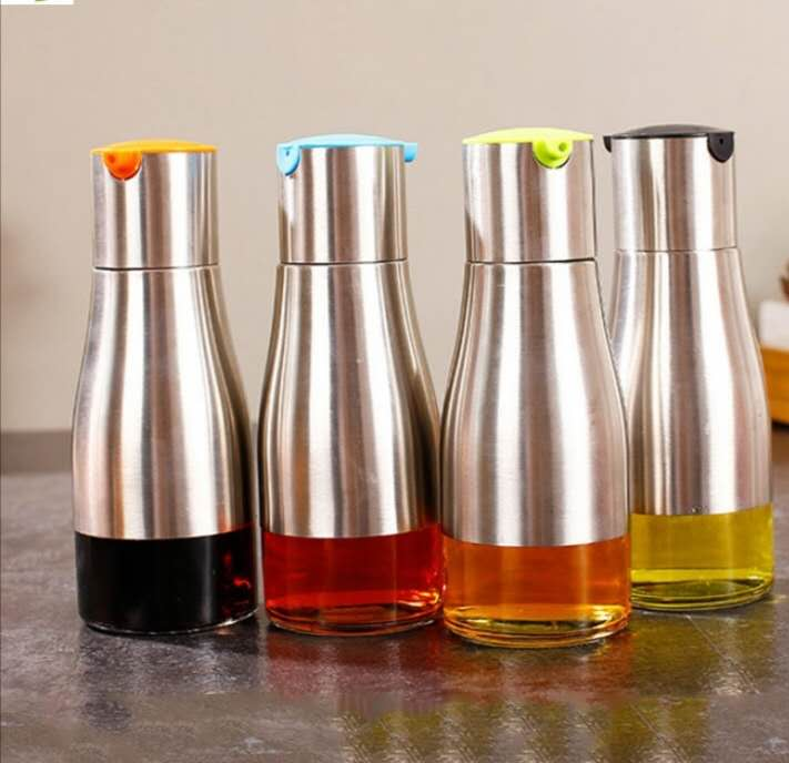 Festnight Botella mezcladora de Especias Botella condimentadora Botella de condimentos Dispensador de Especias de Acero Inoxidable con Tapa giratoria 3 Agujeros de tama/ño de vertido