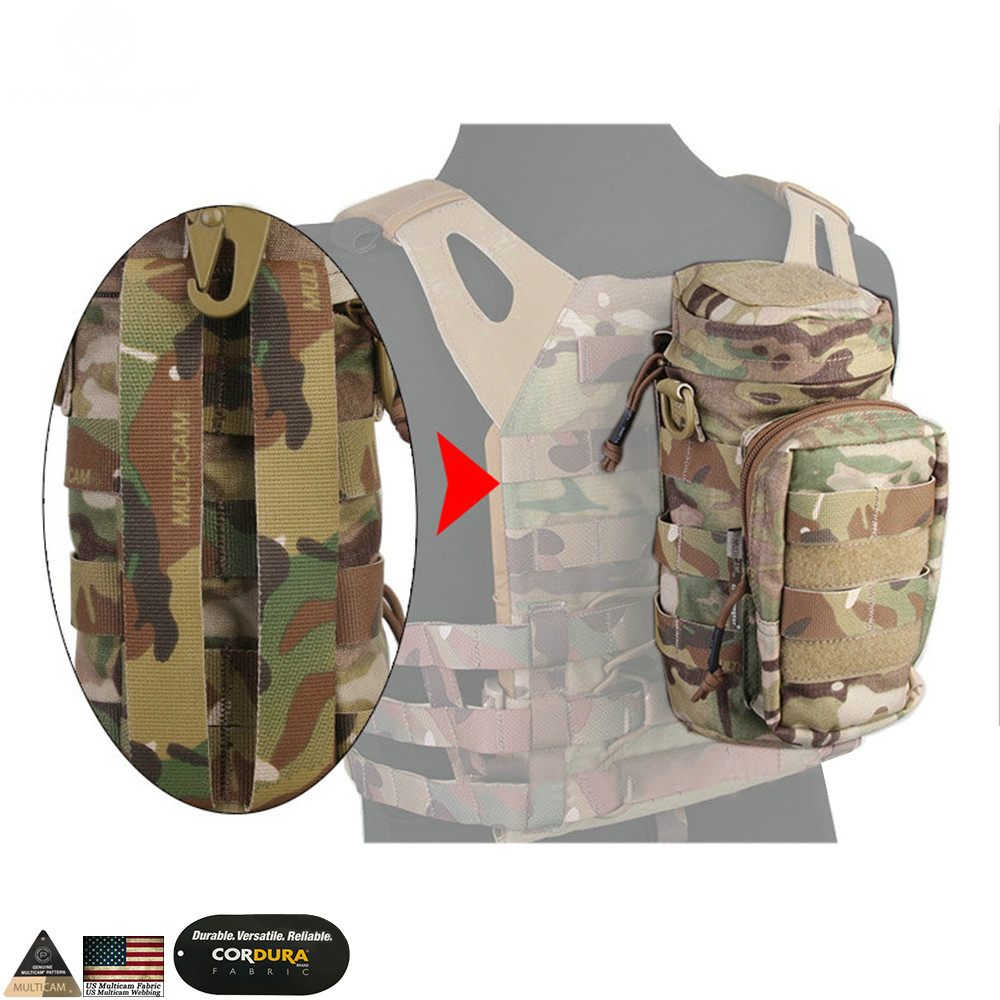 Molle Bag Tactical Backpack Borsa multiuso caccia con impugnatura da combattimento emerson Pouch Multicam Black Pouch