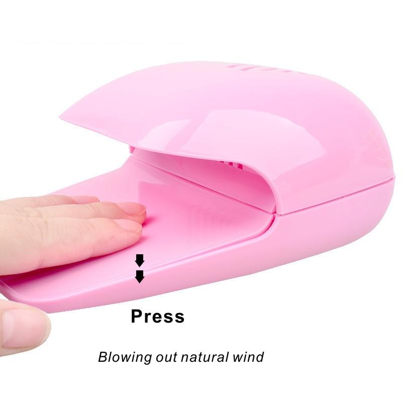Mini Nail Art Air Dryer Nail Polish Dryer Portable Glue Dry AA Battery Fan Nail Art Tools Drier Fast Drying Machine Travel Dryer