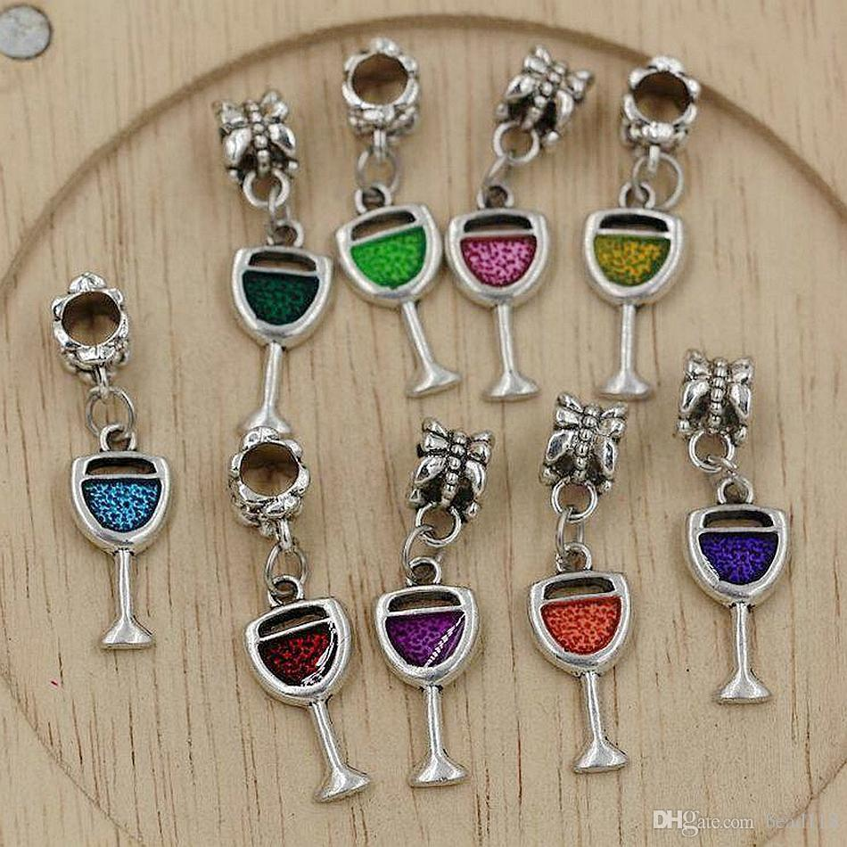 for European Bracelet Water Bottle Drink Dangle Bead Charm