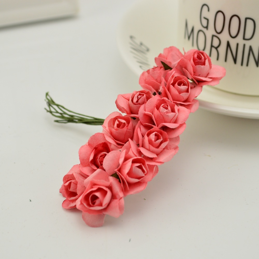 144pcs-1cm-cheap-Artificial-Paper-flowers-for-Wedding-car-fake-Roses-Used-For-decoration-Candy-box(8)