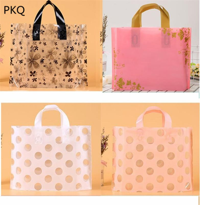 45pcs Plastic hand bags Shopping Carrier gift Bag for T-shirt shoes fashion bags