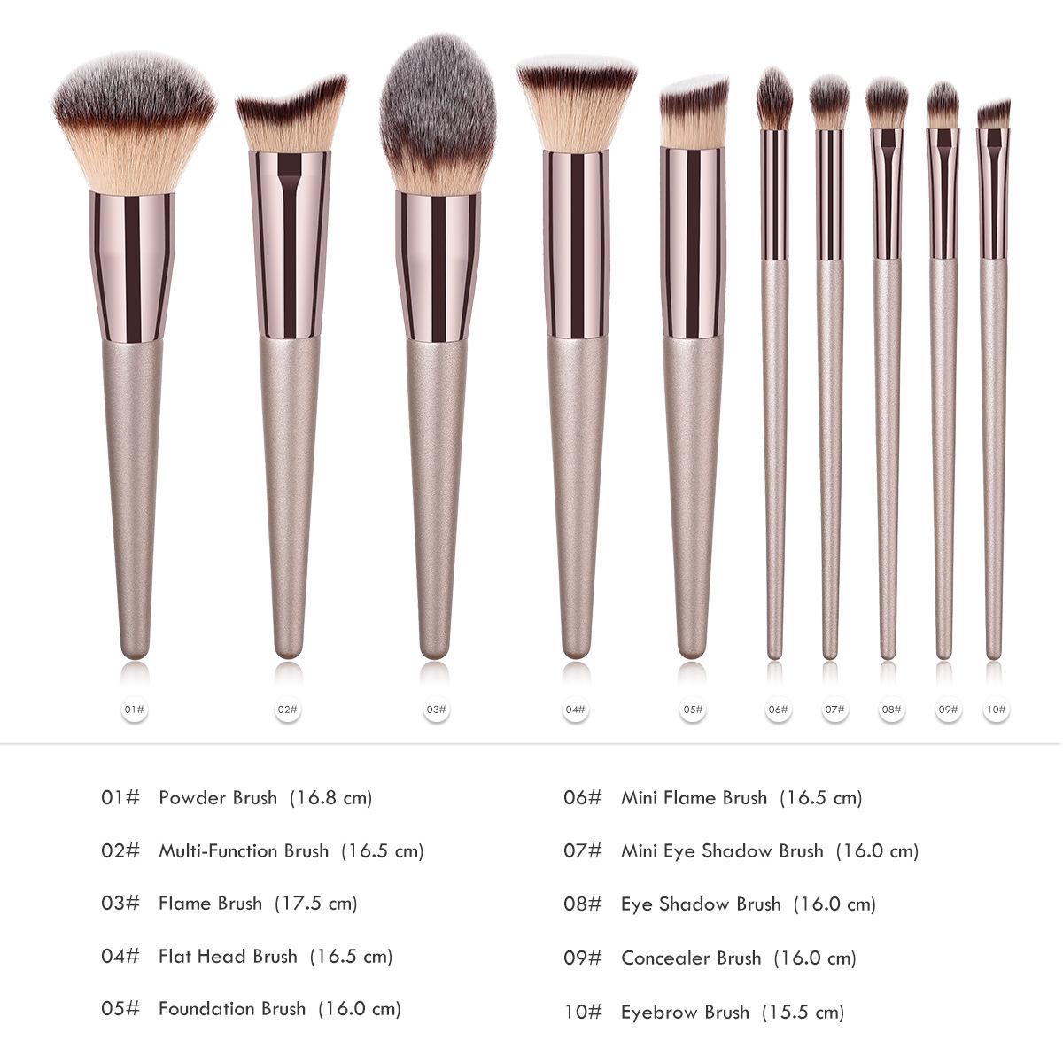 Makeup Powder / Foundation Eyeshadow Contour / Tapered Highlighter Eye Blending Brush Cosmetics Tools