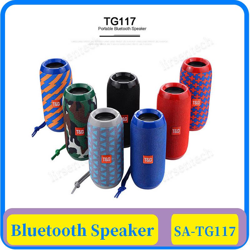 15x TG117 Wireless Bluetooth Speaker Column Portable Speaker Altavoz Bluetooth Soundbox 10W Outdoor Speaker with TF Card FM Radio