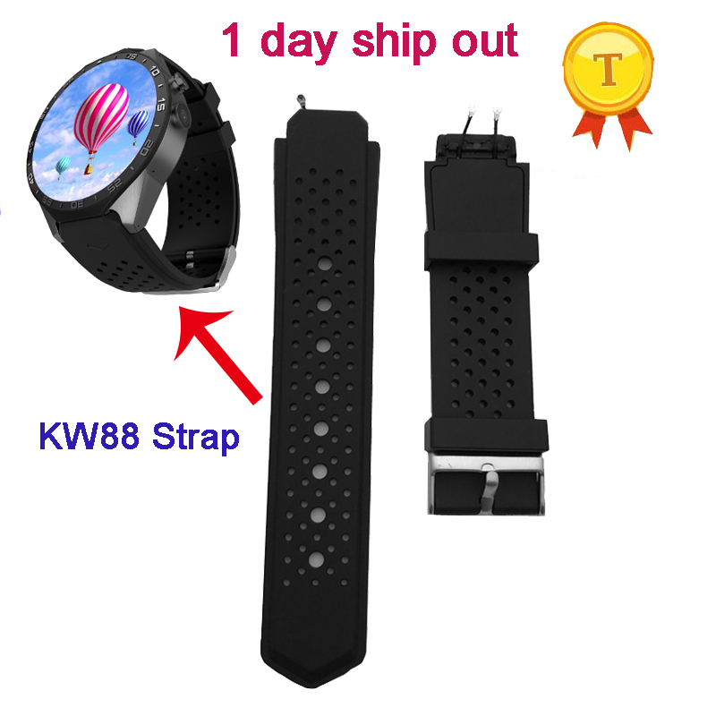 original Strap For kingwear kw88 smartwatch smart watch phone watch clock wrist strap watch strap red white black belt watchband