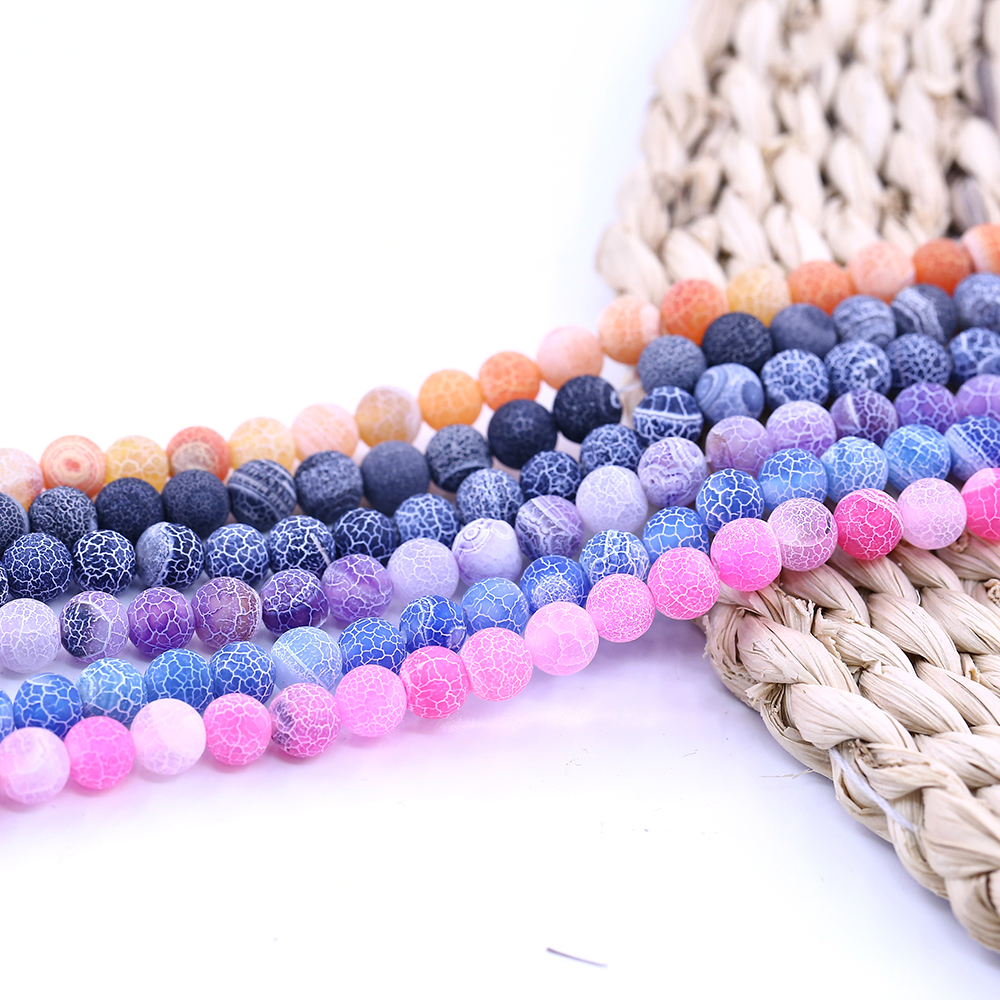 "Wholesale  Rubber Neon Matte Round Loose Beads 15/"" 6mm 8mm 10mm Bulk"