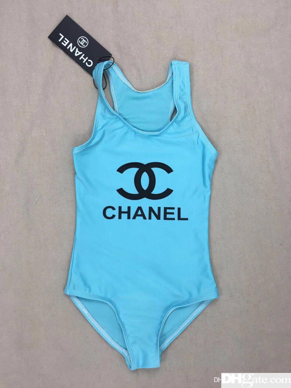 Ins best selling high end one-piece bebê meninas macacões swimwear letra impressão maiô crianças roupas de praia