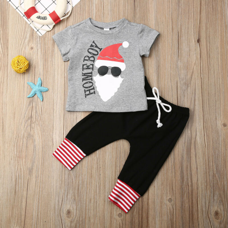 Childrens SANTA tutti in un nuovo Bambini Babbo Natale Sleepsuit Kids Costume