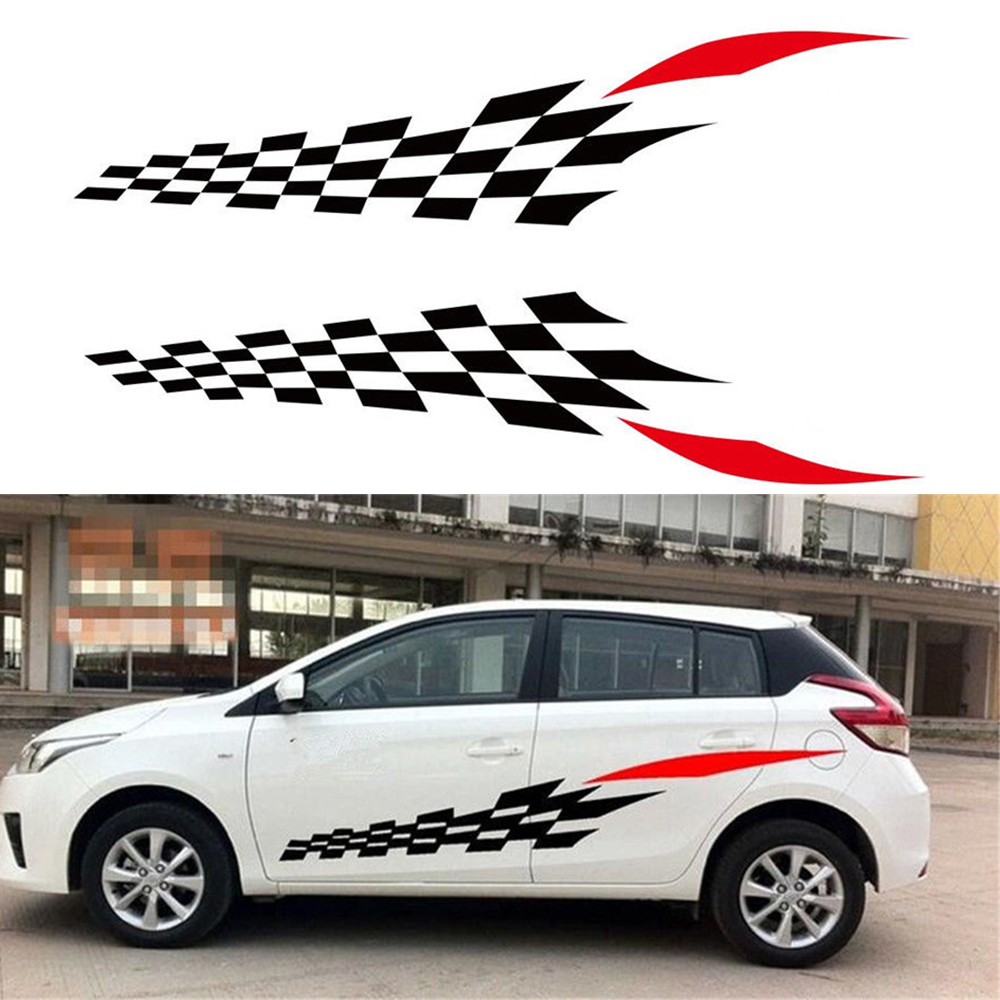 1 pair new racing car stickers auto sport styling vinyl car body generic sticker decal suitable for all kinds of models