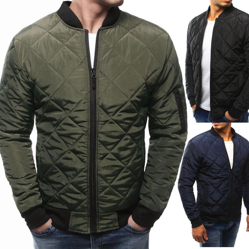 Men Jacket Winter Coat Men's Winter Army green Jacket Bomber Jacket Men's Coat Streetwear Jackets Man Windbreaker