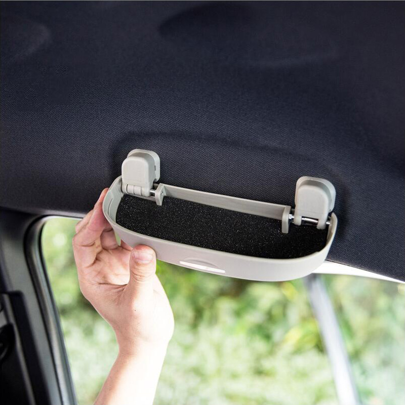 Grey Car Front Sunglasses Holder Lid with Screws Sunglasses Case for New Focus Classic Fox Toyota Volvo Sunglasses Case