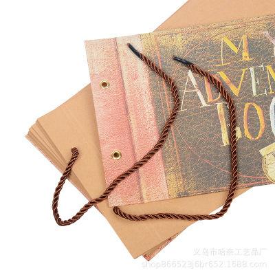 Vintage 80 Pages Kraft Papier Feuilles Carte Notre Mon Livre D'aventure À La Main Diy Foto Scrapbook Album Photo Cadeaux Q190531