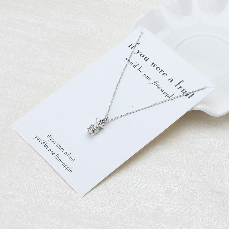 Minimaliste Ananas Collier Pour Femmes Or Couleur Choker Déclaration Collier Avec Carte De Mode Bijoux Bijoux Cadeaux