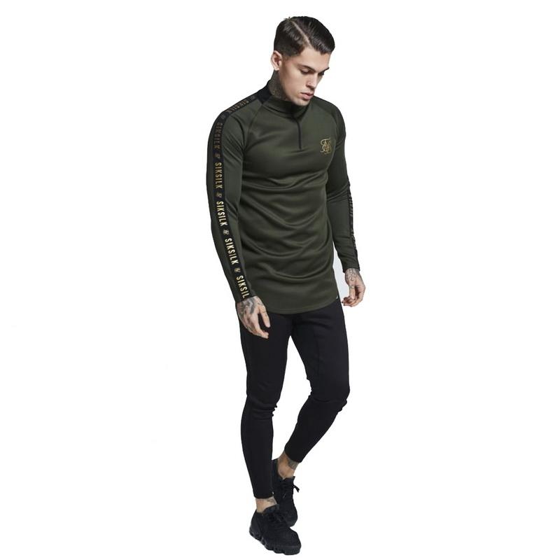 Sonbahar Moda Yüksek elastikiyet Sik Ipek T-shirt Erkekler Uzun Kollu Spor T Gömlek erkek Katı Spor Salonları Vücut Geliştirme Marka T-shirt SH190827