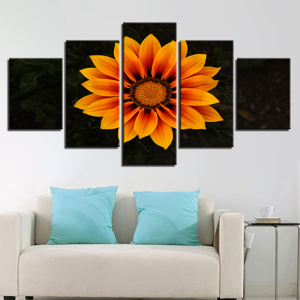 Canvas HD Prints Pictures Wall Art Orange Daisy Flowers Paintings Dimorphotheca Poster Living Room Decor Modular Framed