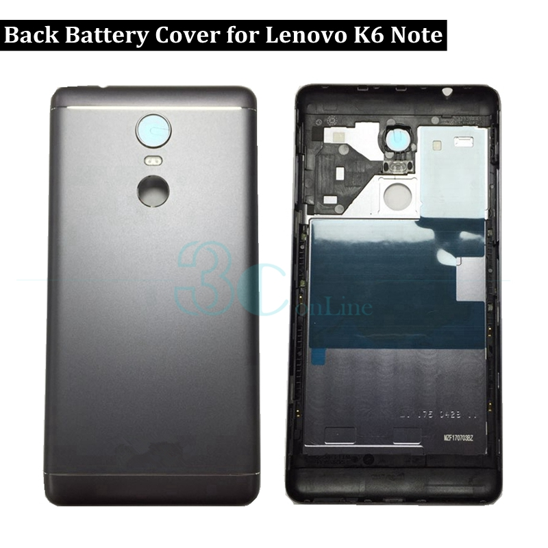 For Lenovo K6 Note Battery Back Cover Metal Rear Housing Door Case With Camera Glass Lens K53a48 Replacement Repair Spare Parts