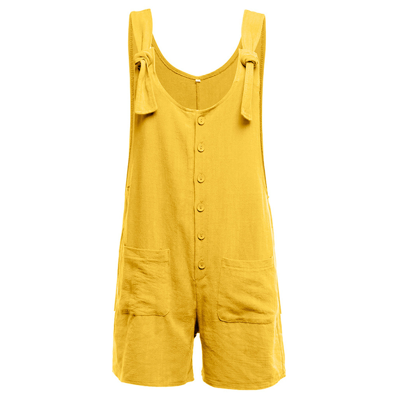Women Rompers Solid Jumpsuit Summer Short Pleated Overalls Jumpsuit Female Wrapped Strapless Playsuit T5190605