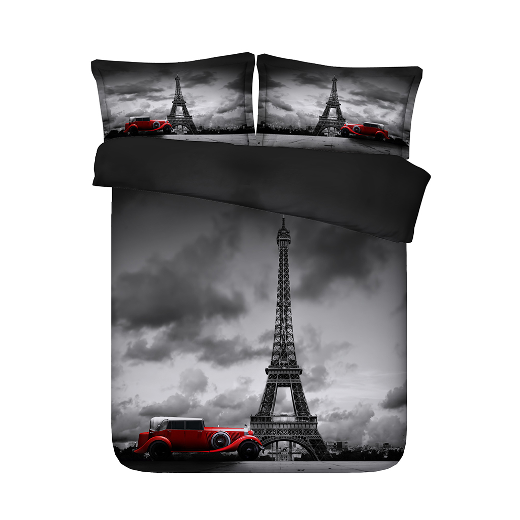 Better Home Style Bonjour Paris Chic Girls//Kids//Teens 4 Piece Sheet Set in Turquoise Pink and Lilac Eiffel Tower with Pillowcases Flat and Fitted Sheets # Lilac Paris Full