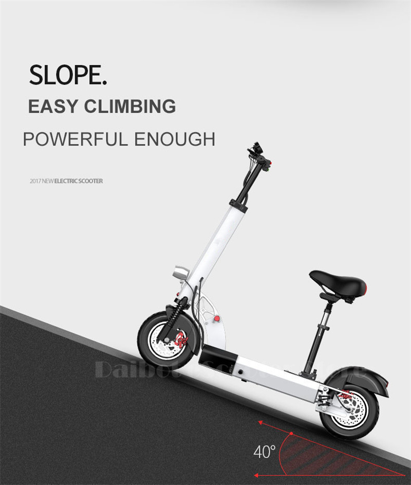 Daibot Folding Electric Bike 48V Two Wheel Electric Scooters 10 inch Motor 500W Portable With Seat Electric Scooters Adults (27)