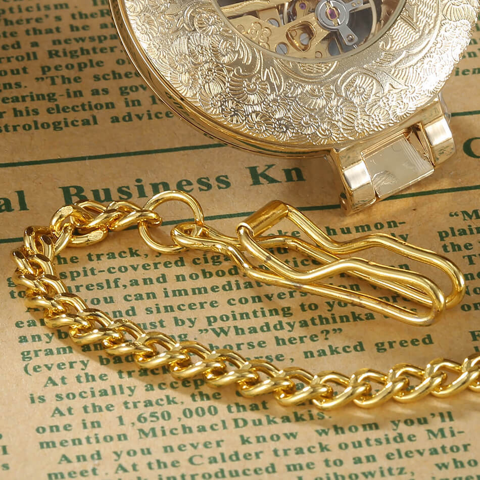 gold fob watch with chain