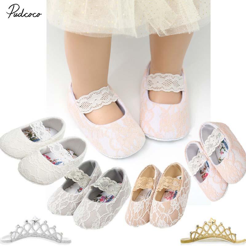 Bébé Nouveau-né bébé garçons filles Crown Chaussures Crib Prewalker doux anti-dérapant Chaussures