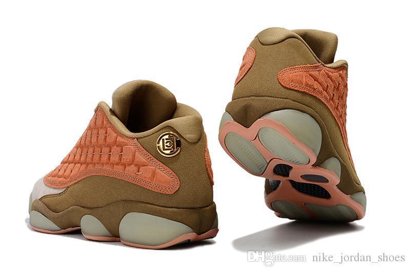 X Kalite Pıhtı Yüksek 13 Düşük Pişmiş Allık Erkekler Açık Ayakkabı Çin Pişmiş Savaşçılar Sepya Taş Erkekler Tasarımcı Sneakers