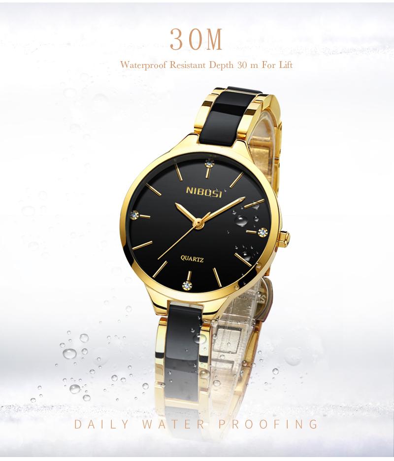 Relojes Para Mujer NIBOSI Women Watches Bracelet Watch Ladies Wrist Watch Women Waterproof Fashion Casual Crystal Dial Rose Gold (7)