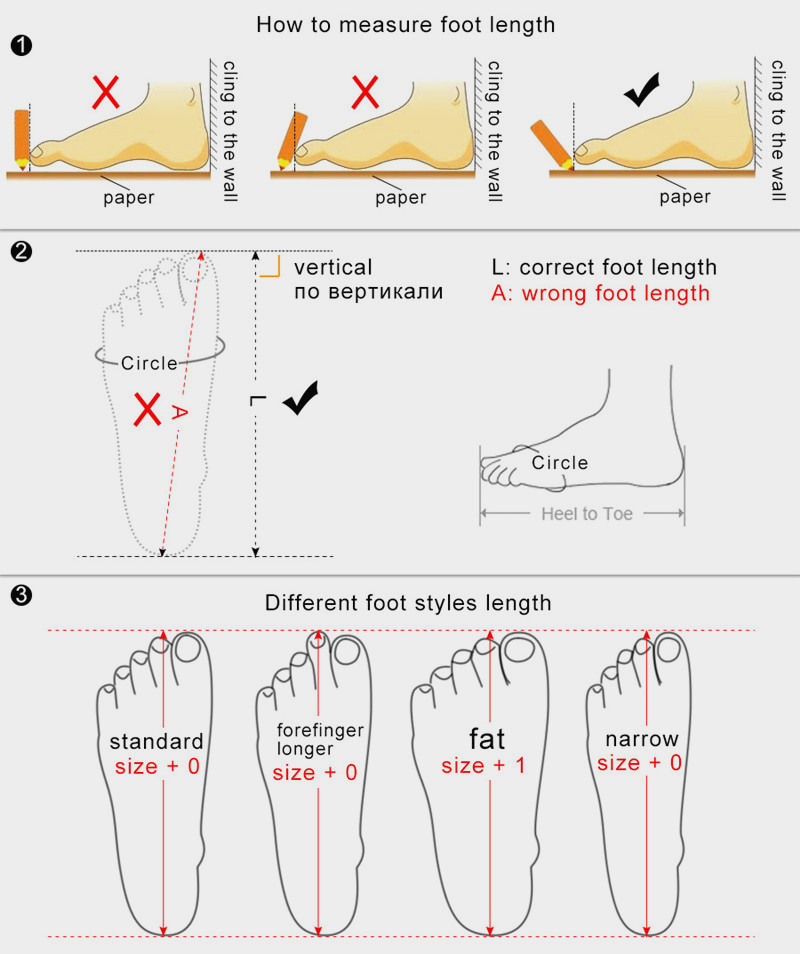 measure foot length