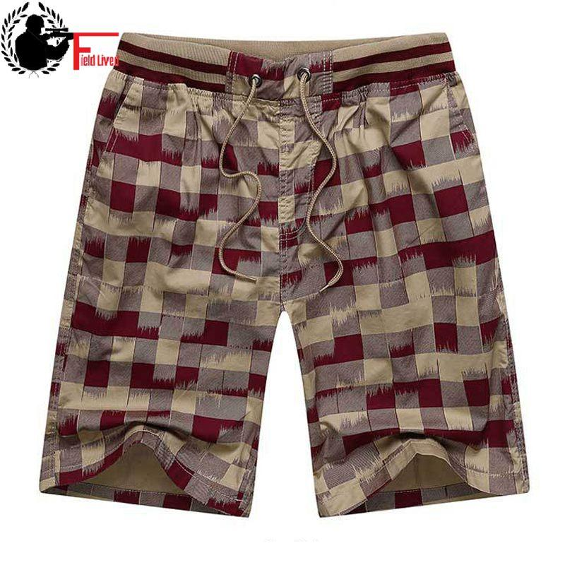 2019 Men Casual Beach Shorts Homme Bottoms Elastic Waist Boardshorts Plus Size 5XL,Red,XXL