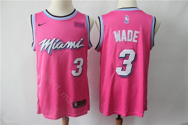 buy popular eb627 28a07 2019 Miami Vice City Earned Edition Dwyane 3 Wade Jersey Heat Basketball  Goran 7 Dragic Hassan 21 Whiteside Jerseys Short Red Black White From ...