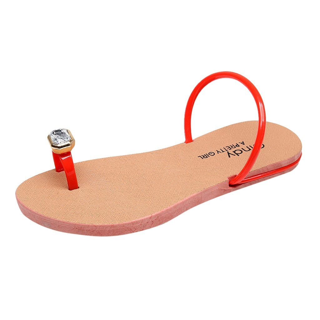 12019 Women Slippers Bohemia Flat Summer Sandals Shoes Beach Slippers Women Crystal Home Slippers Flip Flops Shoes