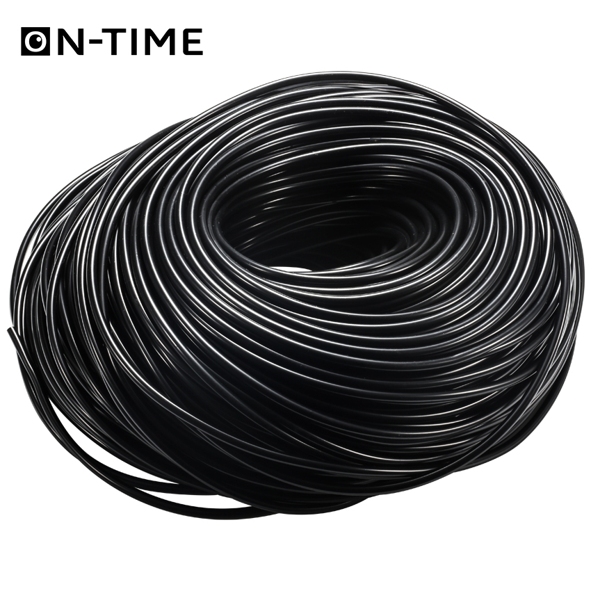 for 4mm//7m tube Tee joint hoses Home /& Garden hose Connector Irrigation Black