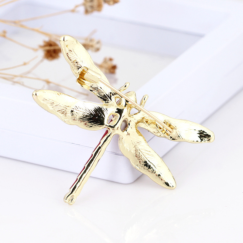 XIHA Oval Crystal Rhinestone Dragonfly Brooch Dress Suit Insect Broches Vintage Brooches for Women Green Enamel Pin Dropshipping (11)
