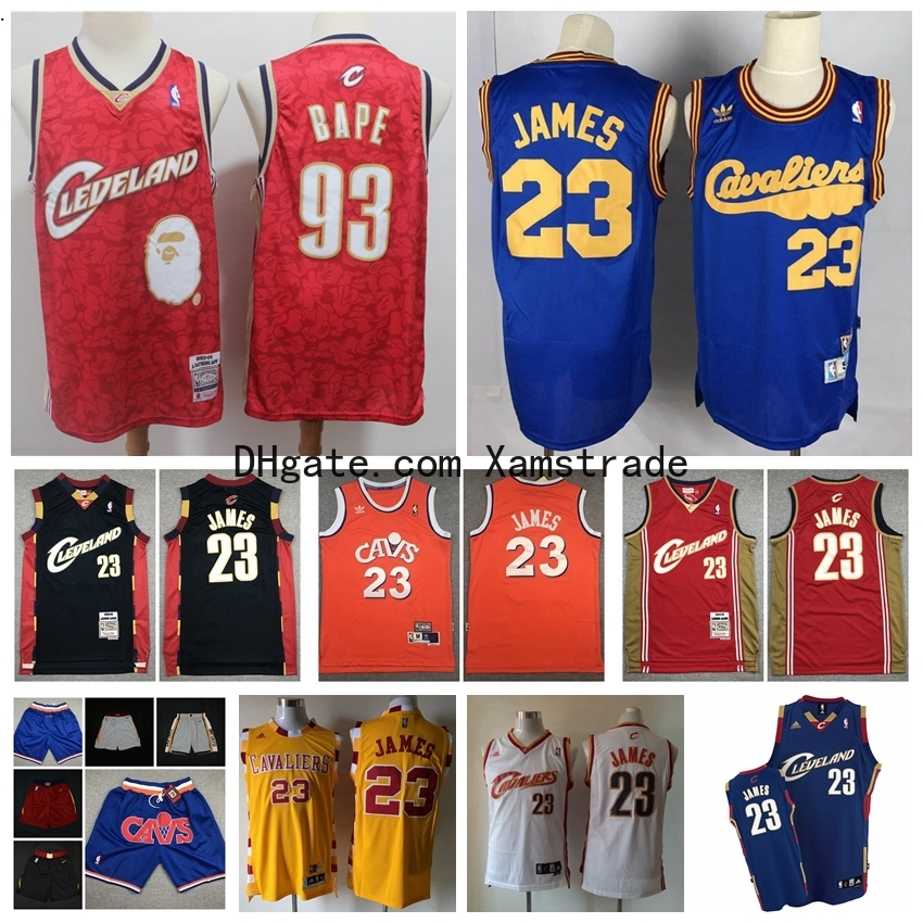 Mitchell /& Ness Cleveland Cavaliers 23 Lebron James Swingman Retro Trikot Jersey
