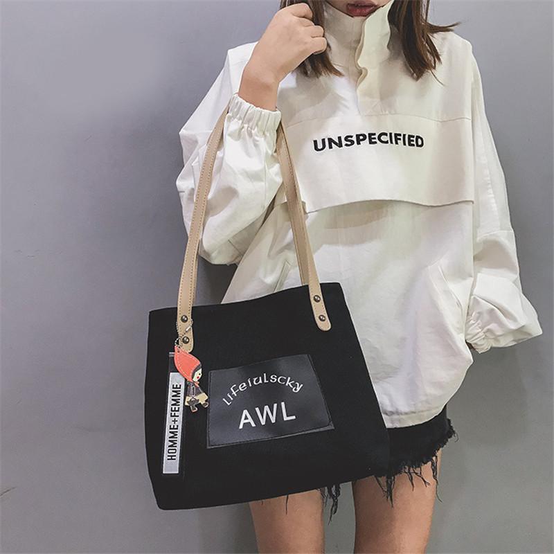 Women Canvas Handbag Fashion Designer Ladies Letter Crossbody Messenger Shoulder Bag Female Fashion Purse Sac A Main SS7382 (10)