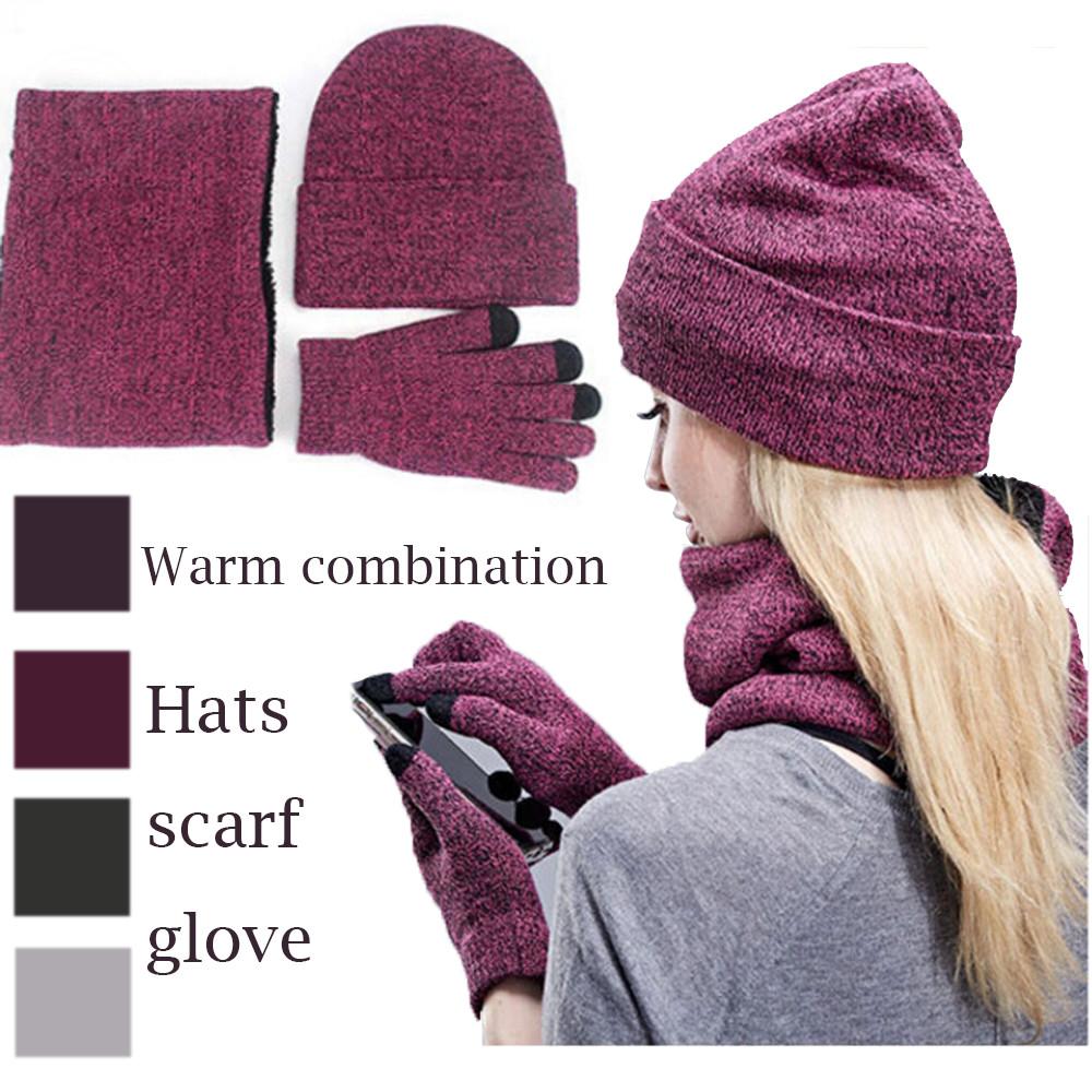 Winter Baby Girl Boy Toddler Star Printed Warm Beanie Hat Cap+Scarf Snood Set D1