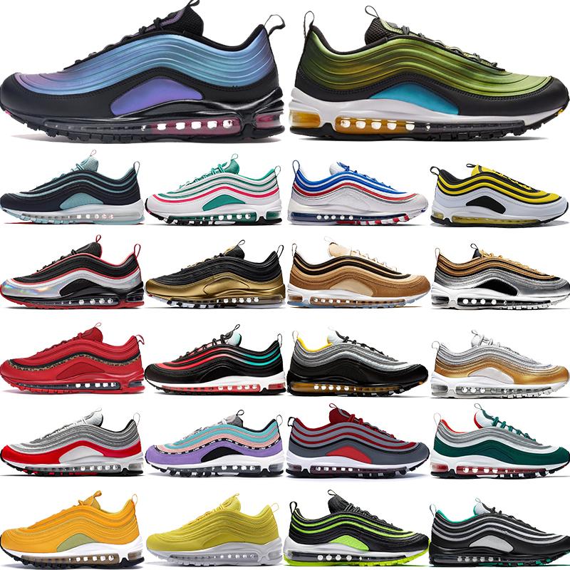 nike air max 97OG chaussures de course de mode hommes femmes LX régresser futures chaussures de designer néon seoul silver bullet tigre camo olive blé