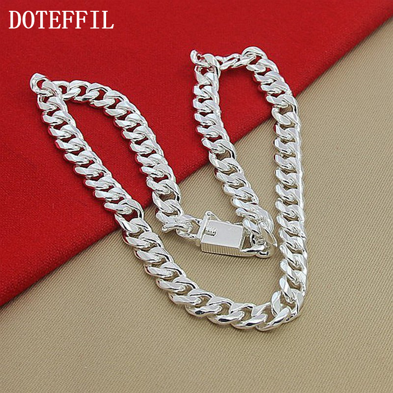 10mm 22-inch Men Necklace Side Chain New Hot Fashion Atmospheric 925 Sterling Silver Jewelry Statement Necklace J190526