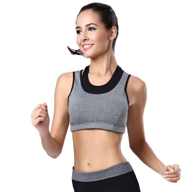 Ladies Sports Bra Lace Crop Top Stretch Gym Yoga Sleeping Padded Bras Vest S-3XL