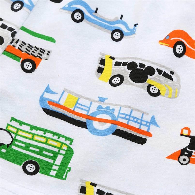 2PCS Baby Sets Toddler Kids Baby Boy Girl Short Sleeve Letter T-shirt Top+Cartoon Car Short Pants Set Baby Clothes M8Y21#F (5)