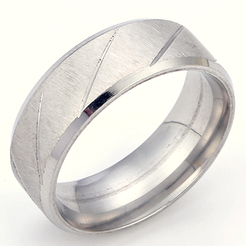 Never fading 316L Stainless steel Ring For Women Mens Engagement WeddingJewelry