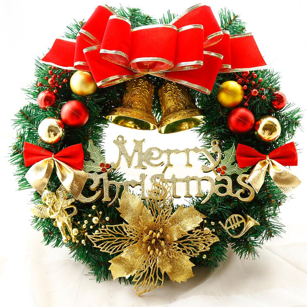 Couronne De Porte Noel Design 1pc rotin couronne 12 pouces de noël grand ornement mur porte couronne  garland décoration blanche bowknot comme montré, rouge, vert foncé