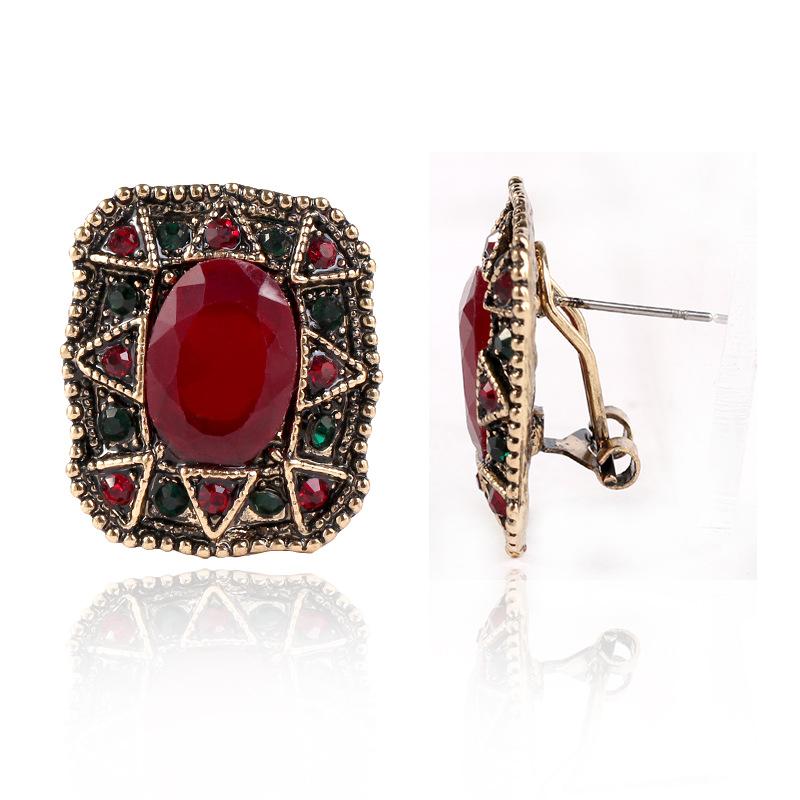 Takı Avrupa ve Amerikan moda mücevher Küpe retro mizaç Saray Fan Küpe