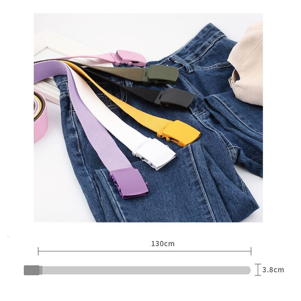 Jaycosin Unisex Automatic Fashion Nylon Belt Buckle Classic Popular Casual Light Practical Woven smooth canvas belt