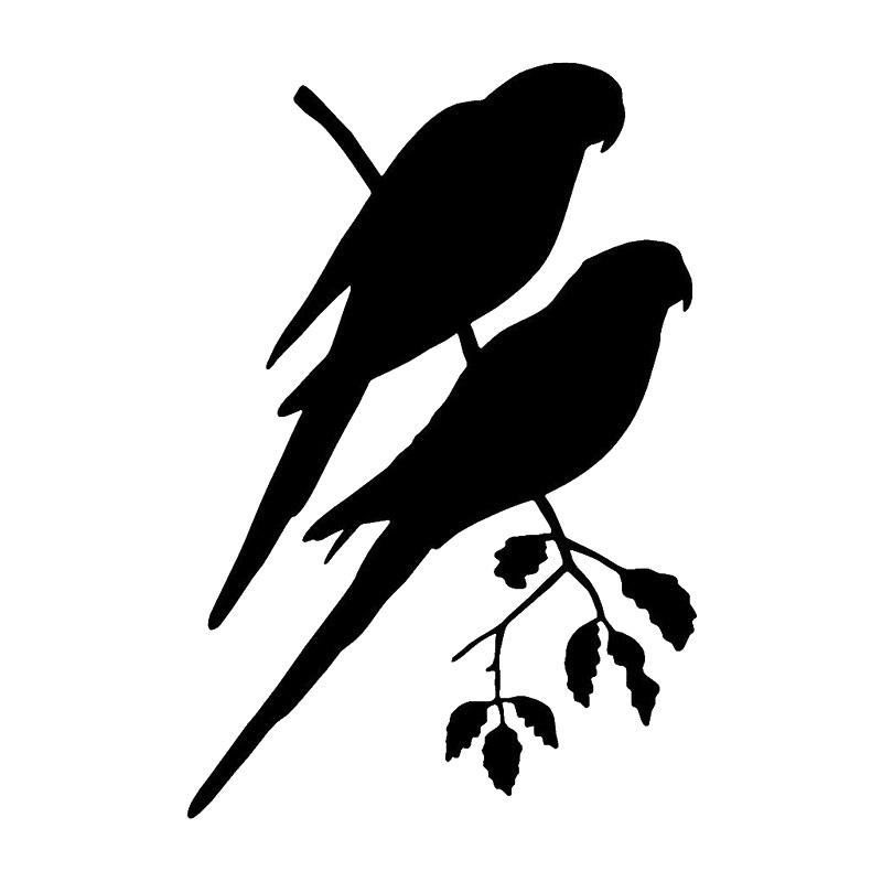 Parrot Decal Wl 131 Vinyl Bird Window Decals Wildlife Decal