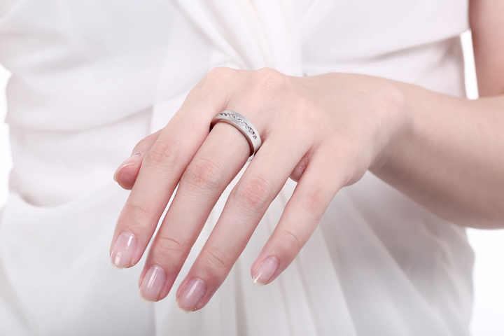 720 sterling silver wedding band model