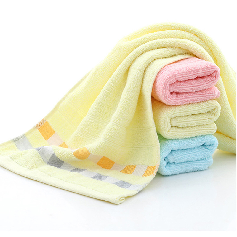 Couleur : Yellow Serviette de bain 1 PC Chat Motif Carr/é Coton Main Serviette Enfants Bande Dessin/ée Absorbant Linge de Bain Serviette De Douche